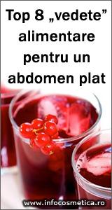 Top 8 vedete alimentare pentru un abdomen plat